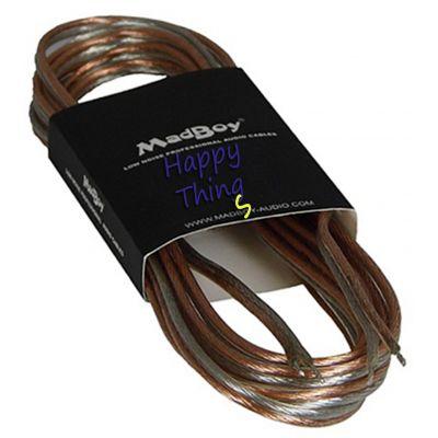 Акустический кабель бесцветный MadBoy Flatty 15 м