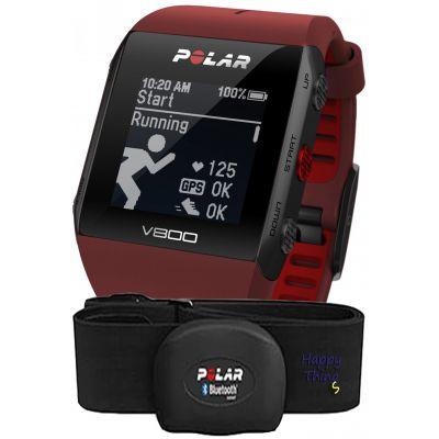 Пульсометр Polar V800 HR red