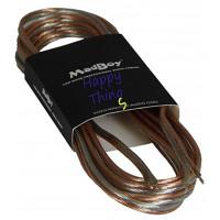 Акустический кабель бесцветный MadBoy Flatty 5м