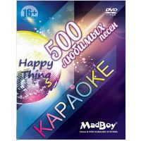 DVD-диск MadBoy караоке «500 любимых песен»
